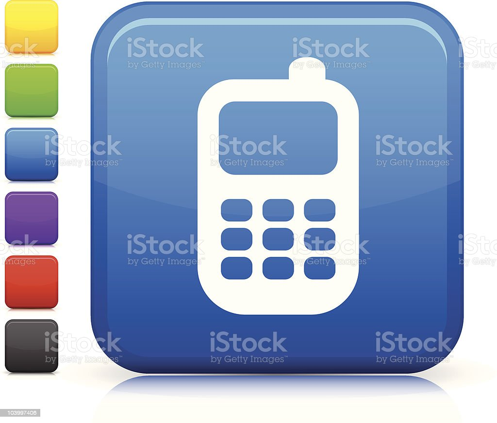 Smart phone square icon royalty-free stock vector art