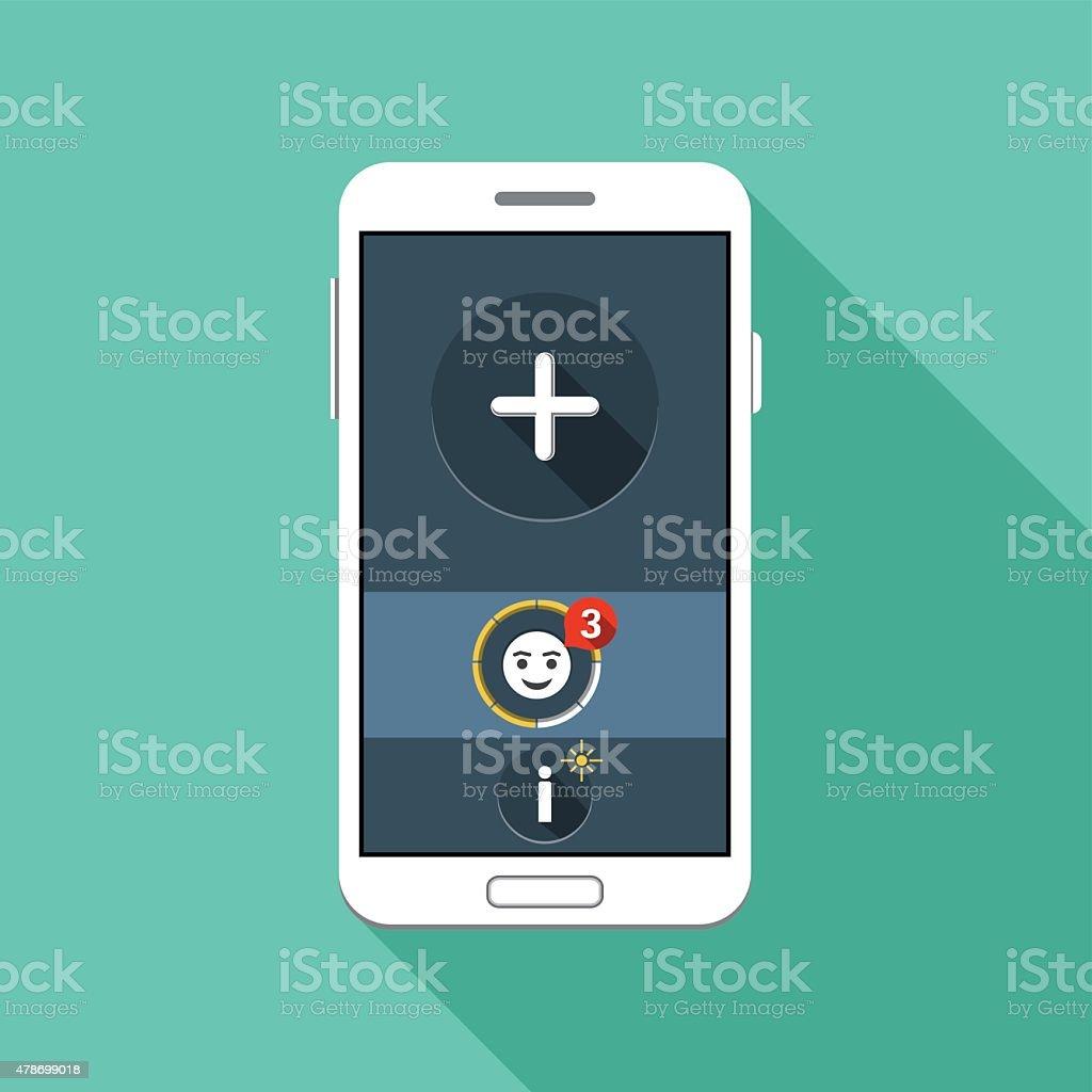 Smart Phone Vector Flat Icon vector art illustration