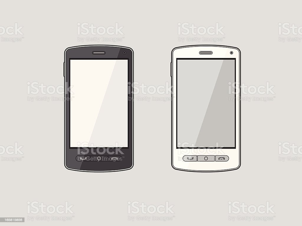Smart phone royalty-free stock vector art
