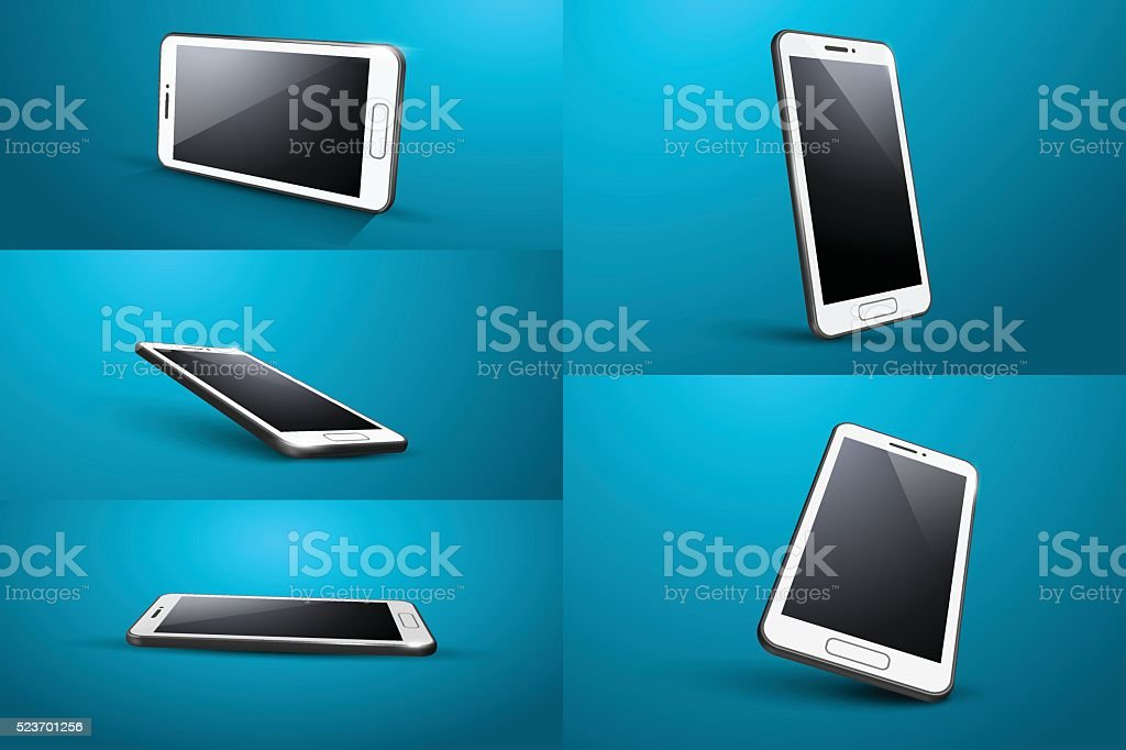 smart phone vector art illustration