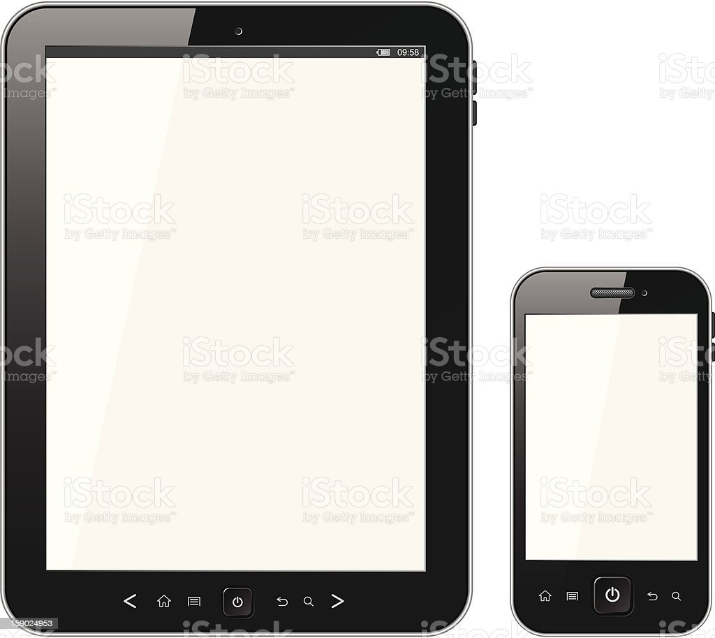 Smart phone with blank screen royalty-free stock vector art