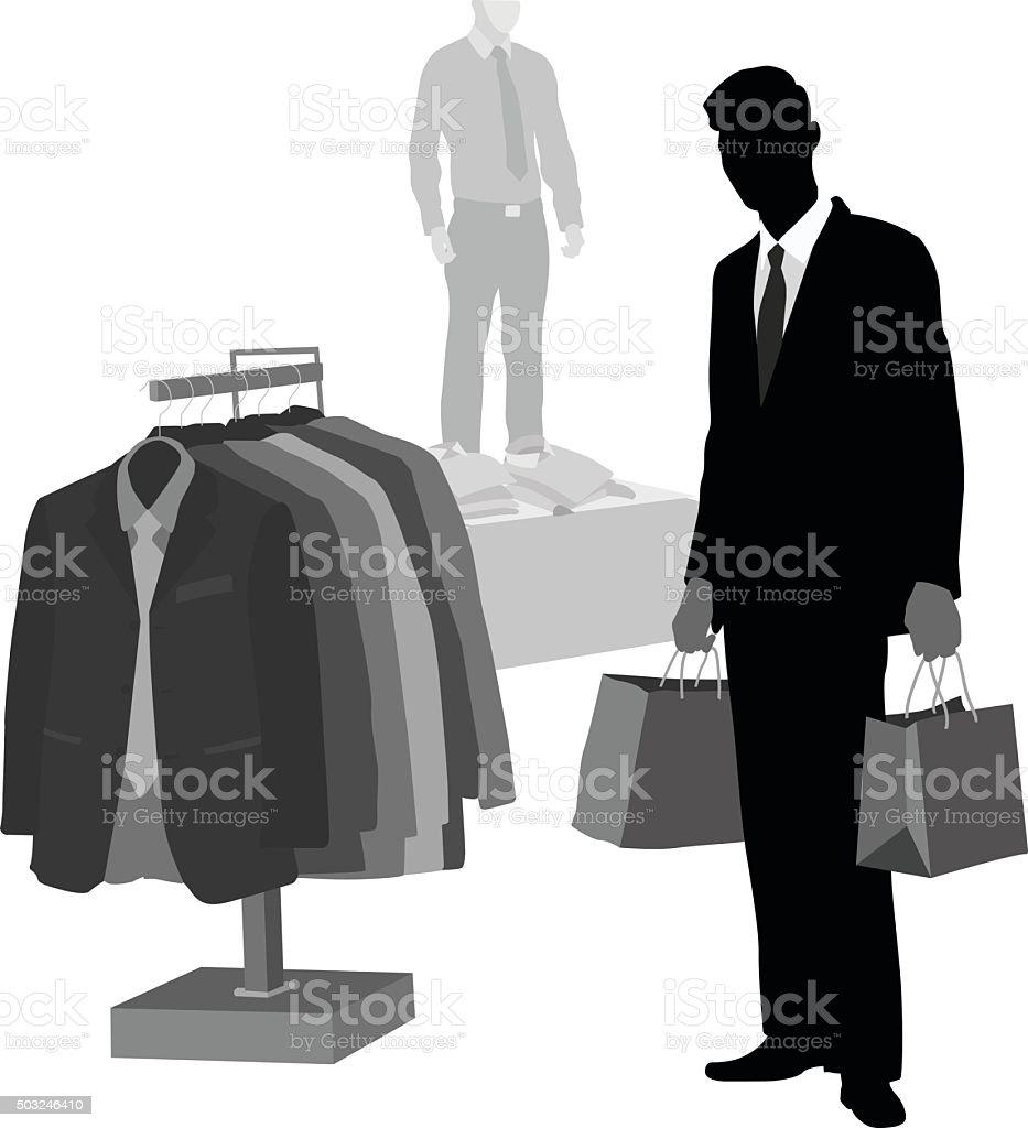 Smart Shopper vector art illustration