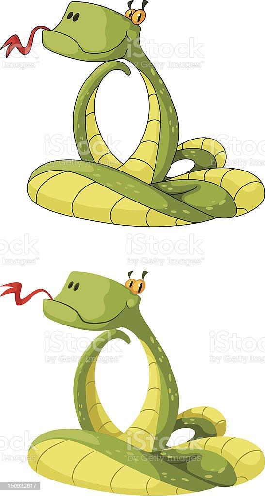 smart snake royalty-free stock vector art