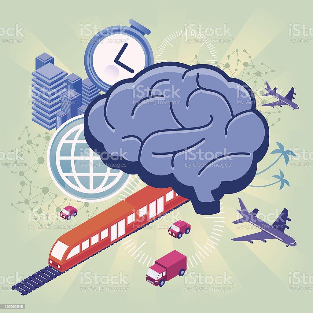 Smart transport vector art illustration