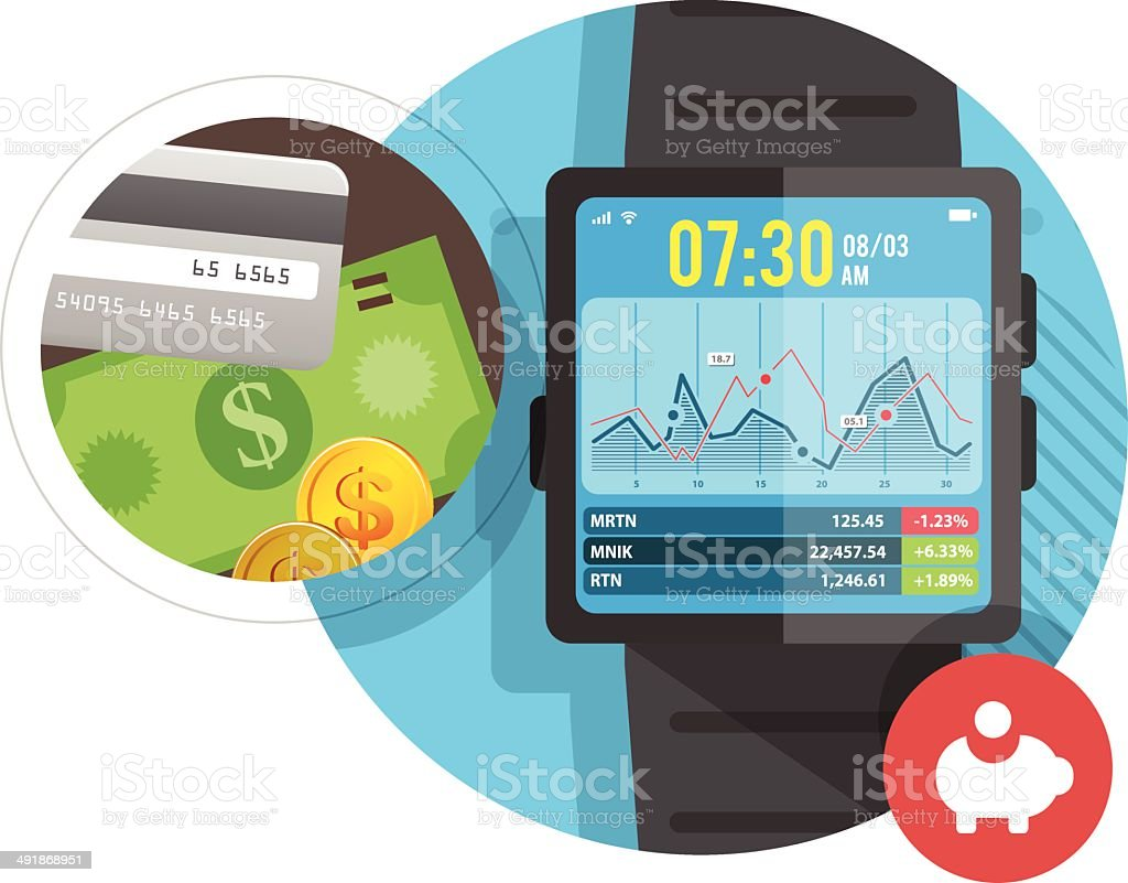 Smart watch for Business royalty-free stock vector art