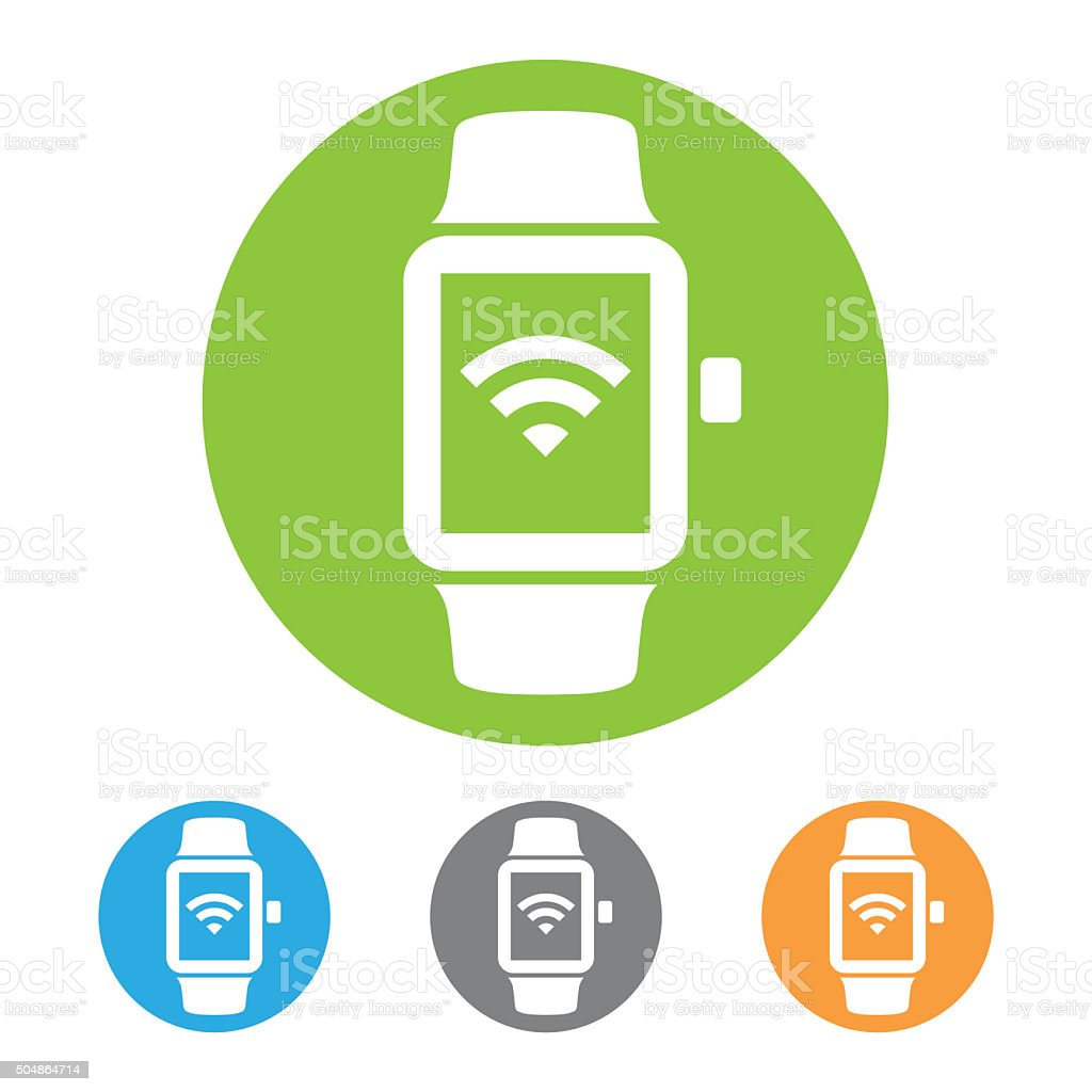 Smart watch icon stock photo