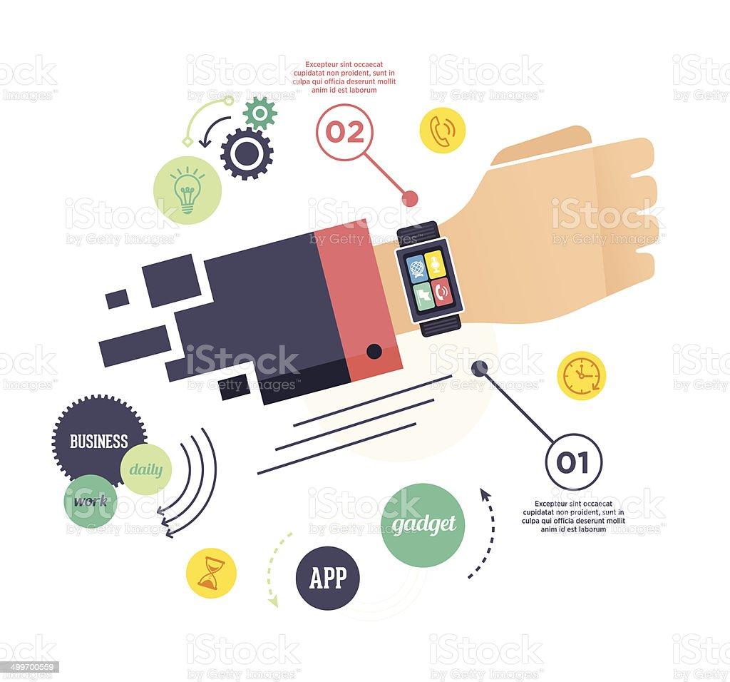 Smart Watch vector art illustration