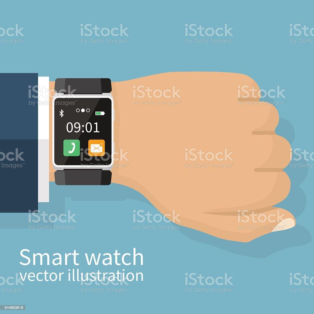 Smart Watch vector vector art illustration