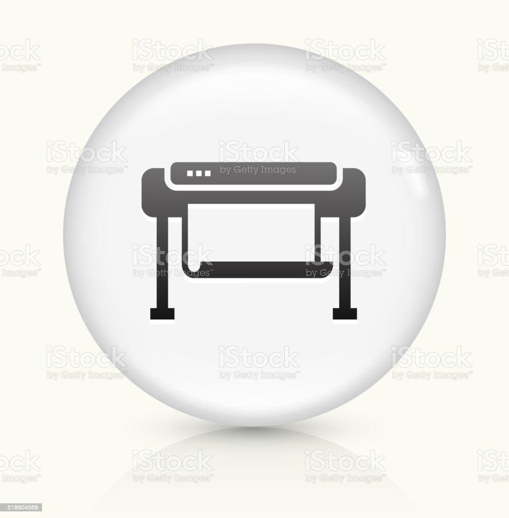 Smartboard icon on white round vector button vector art illustration