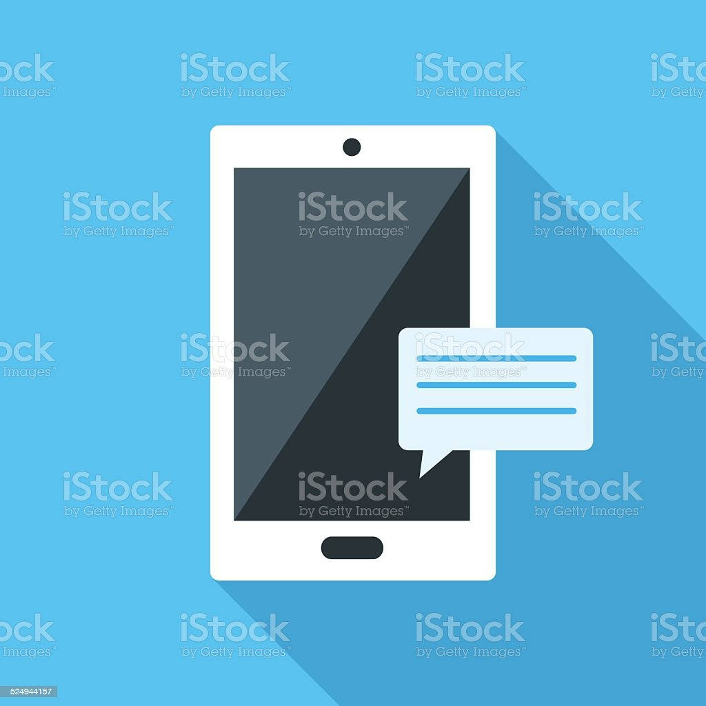 Smartfon flat icon vector art illustration
