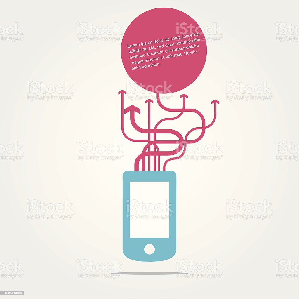 Smartphone communication concept royalty-free stock vector art