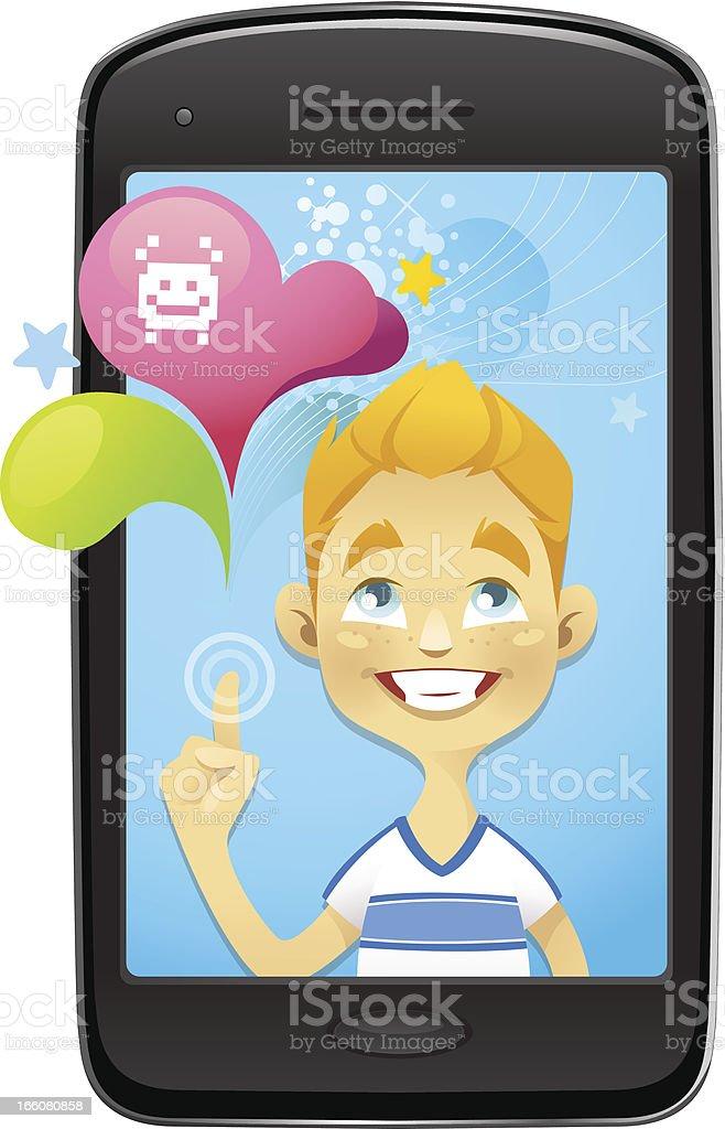 Smartphone Fun (Games) royalty-free stock vector art