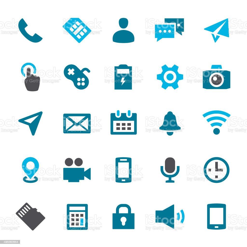 Smartphone Icons vector art illustration