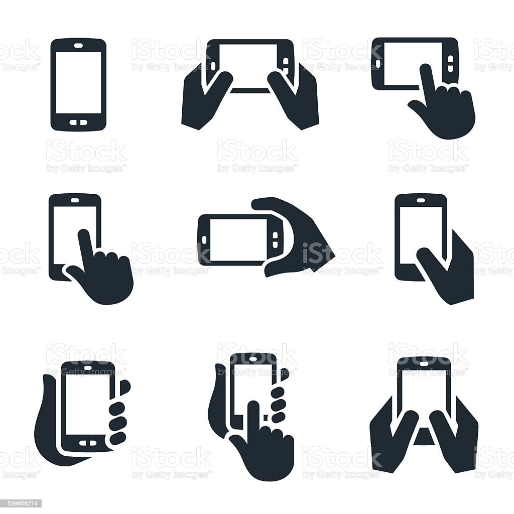 Smartphone Icons vector art illustration