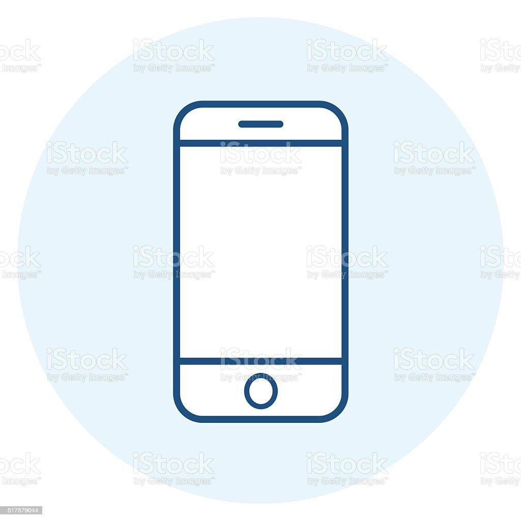 Smartphone icon,vector illustration vector art illustration