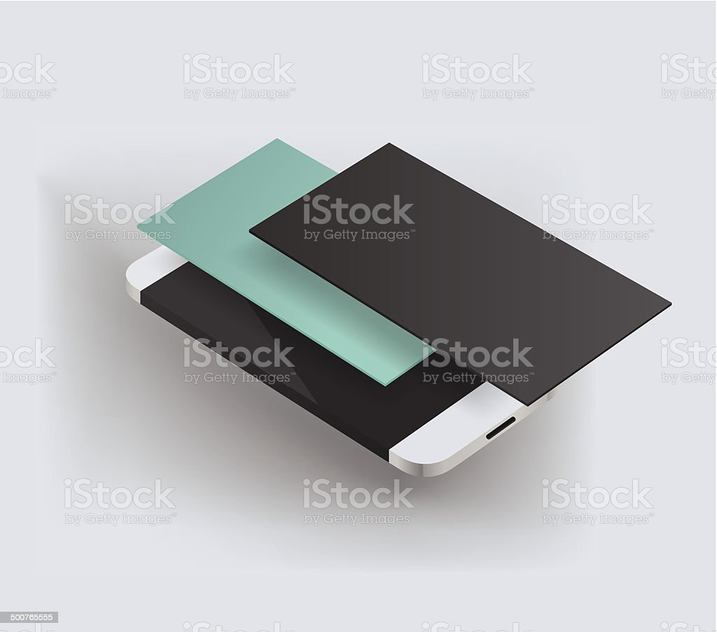 smartphone illustration vector art illustration