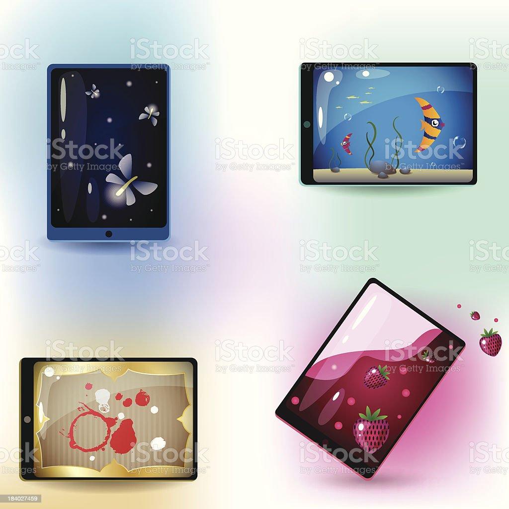 Smartphone illustrations royalty-free stock vector art