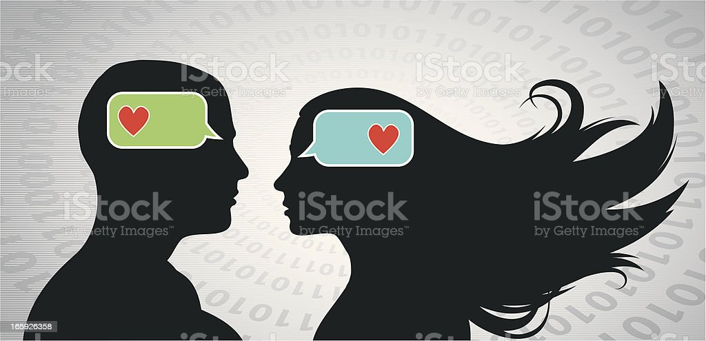 Smartphone Love royalty-free stock vector art