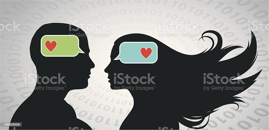Smartphone Love vector art illustration