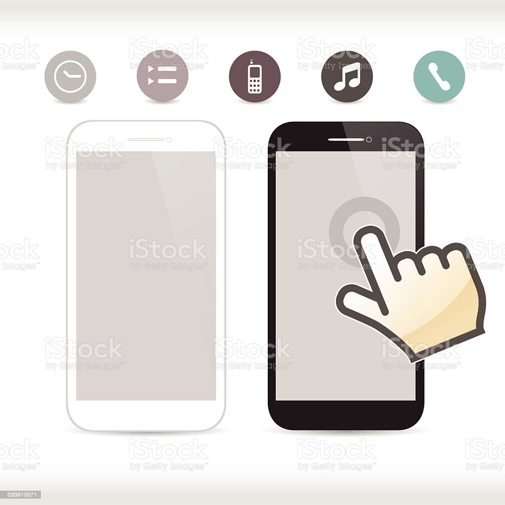 Smartphone, mobile phone isolated, realistic vector illustration. vector art illustration