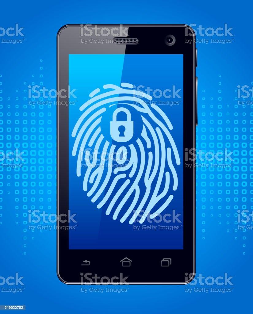 Smartphone Protection vector art illustration