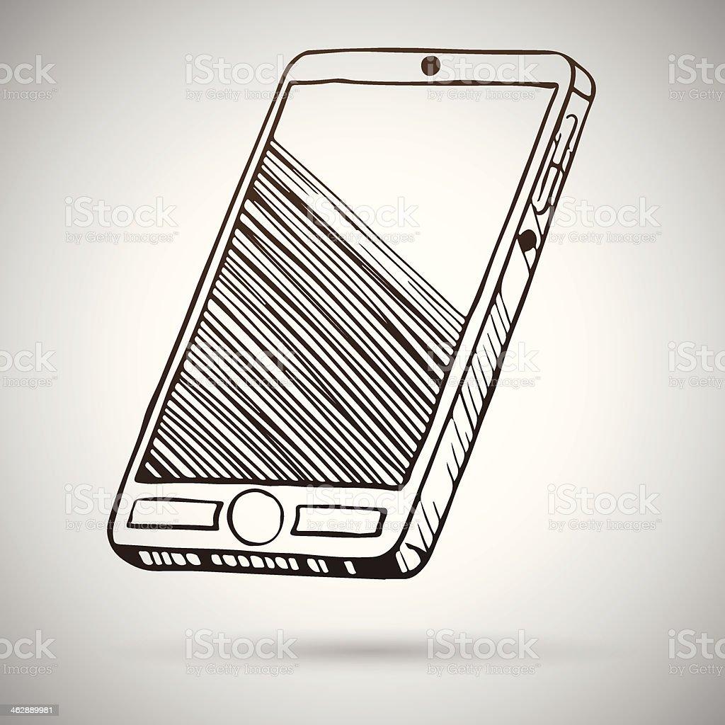 Smartphone sketch. Vector illustration royalty-free stock vector art