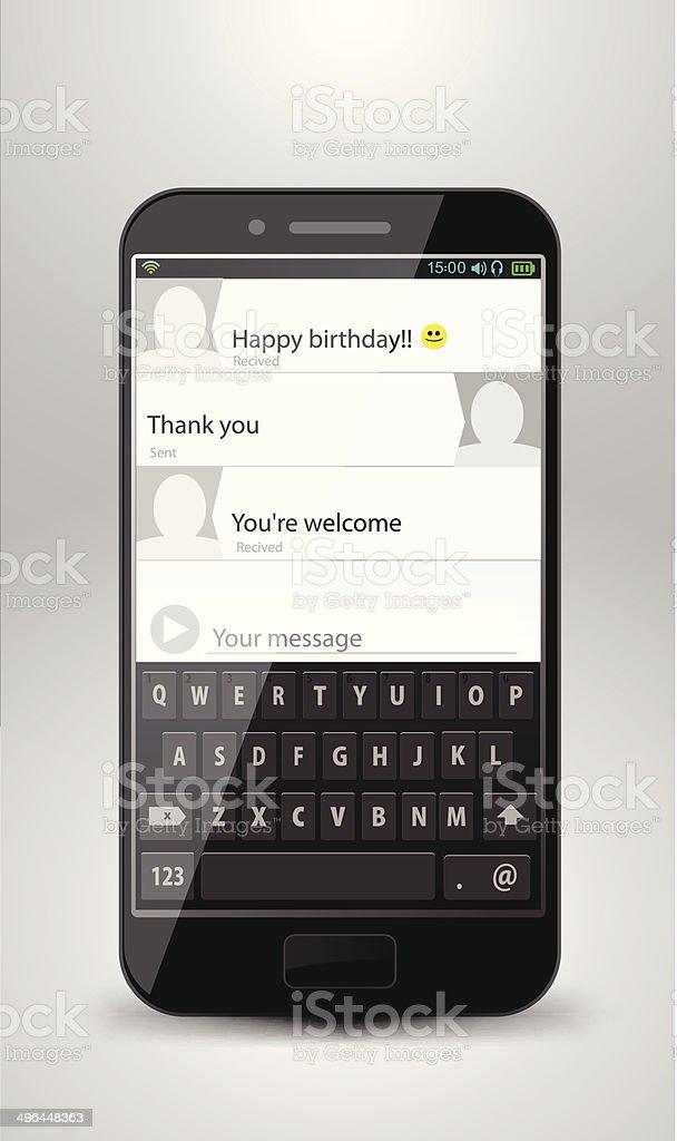 Smartphone espace pour le texte stock vecteur libres de droits libre de droits