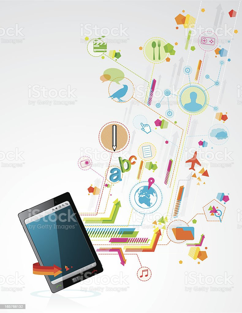 Smartphone royalty-free stock vector art