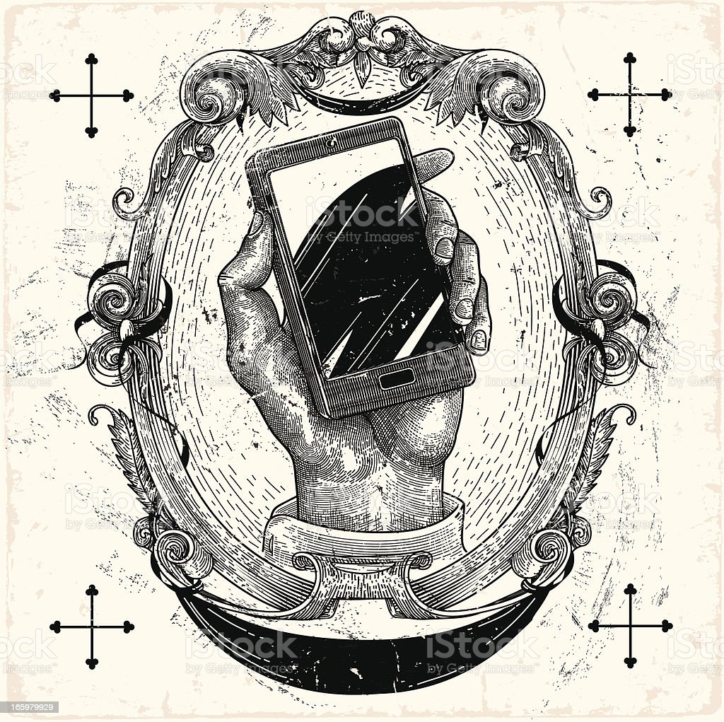 Smartphone vector art illustration