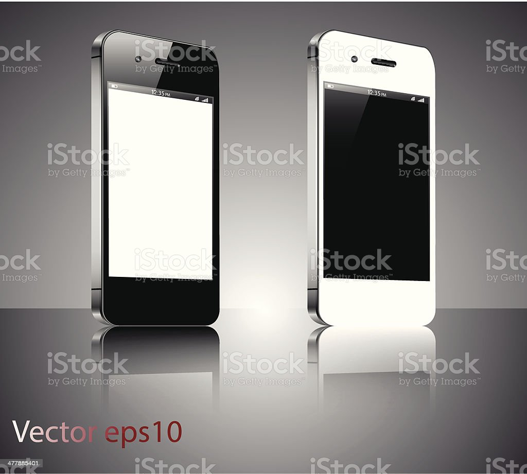 Smartphones royalty-free stock vector art