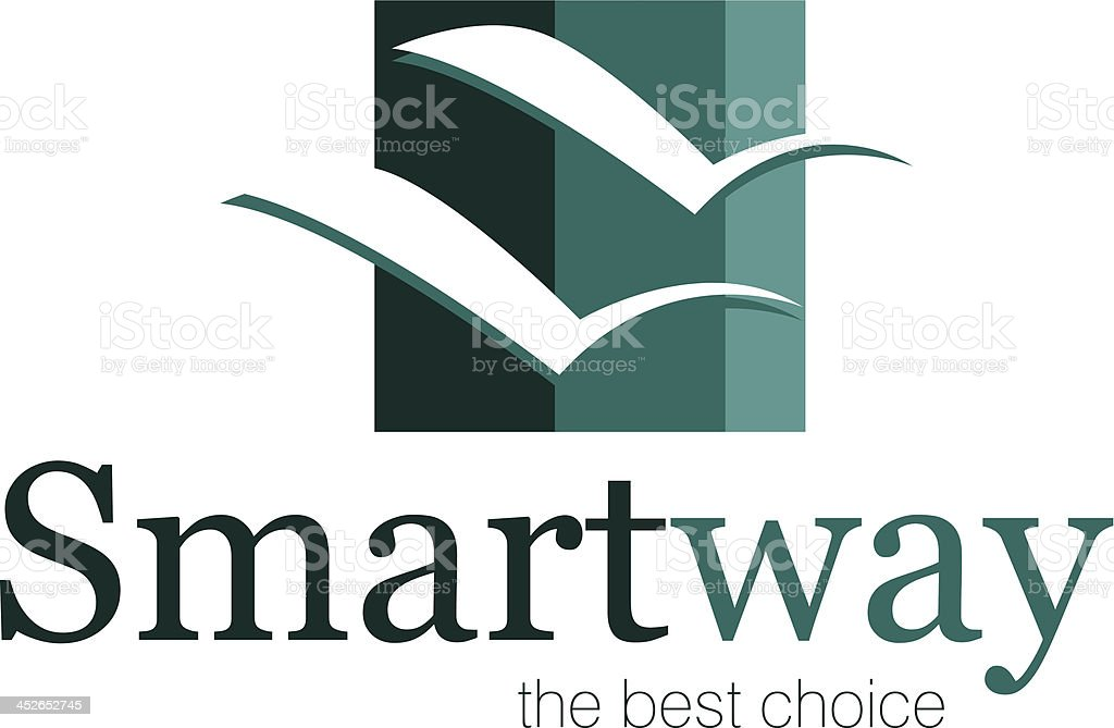 smartway logo vector art illustration