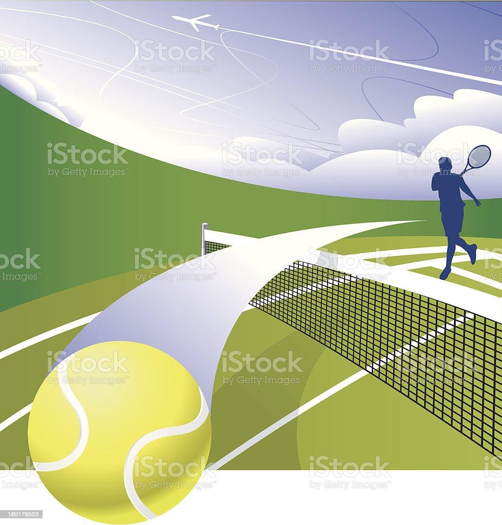 Smash The Court vector art illustration