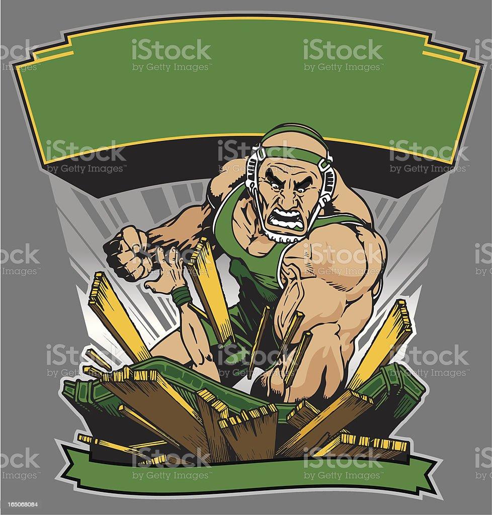 Smashum Wrestling royalty-free stock vector art