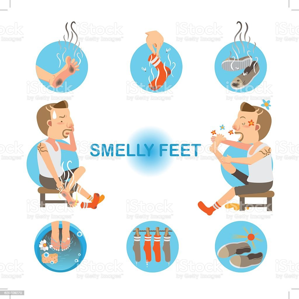 Smelly Feet vector art illustration