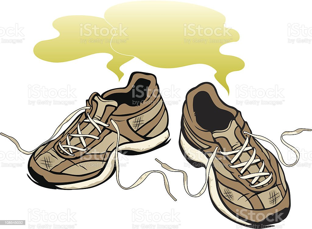 Smelly Sneakers vector art illustration