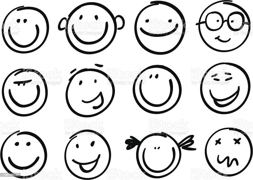Smile brash vector art illustration