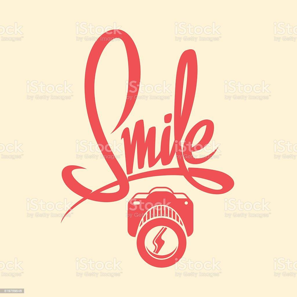 smile camera poster vector art illustration
