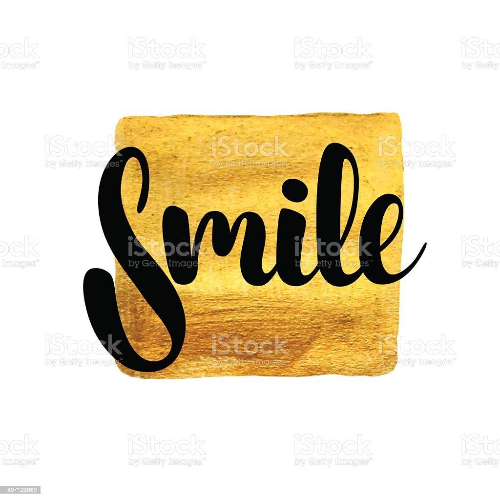 Smile card. vector art illustration