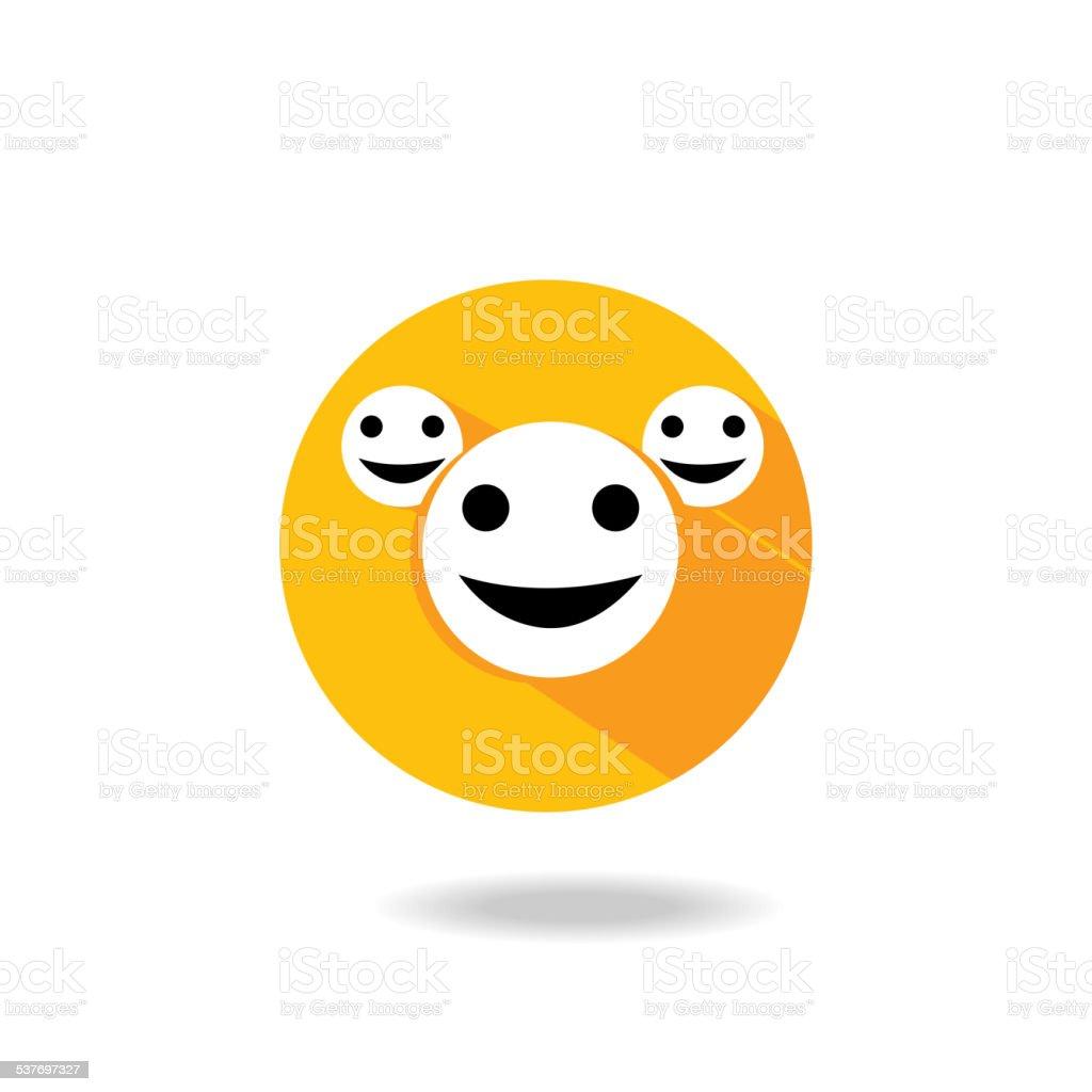 Smile emoticon. Vector illustration vector art illustration