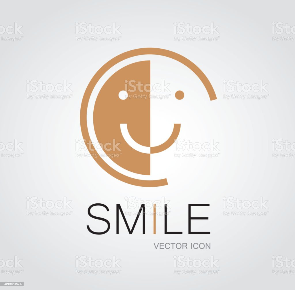 Smile face symbol vector art illustration