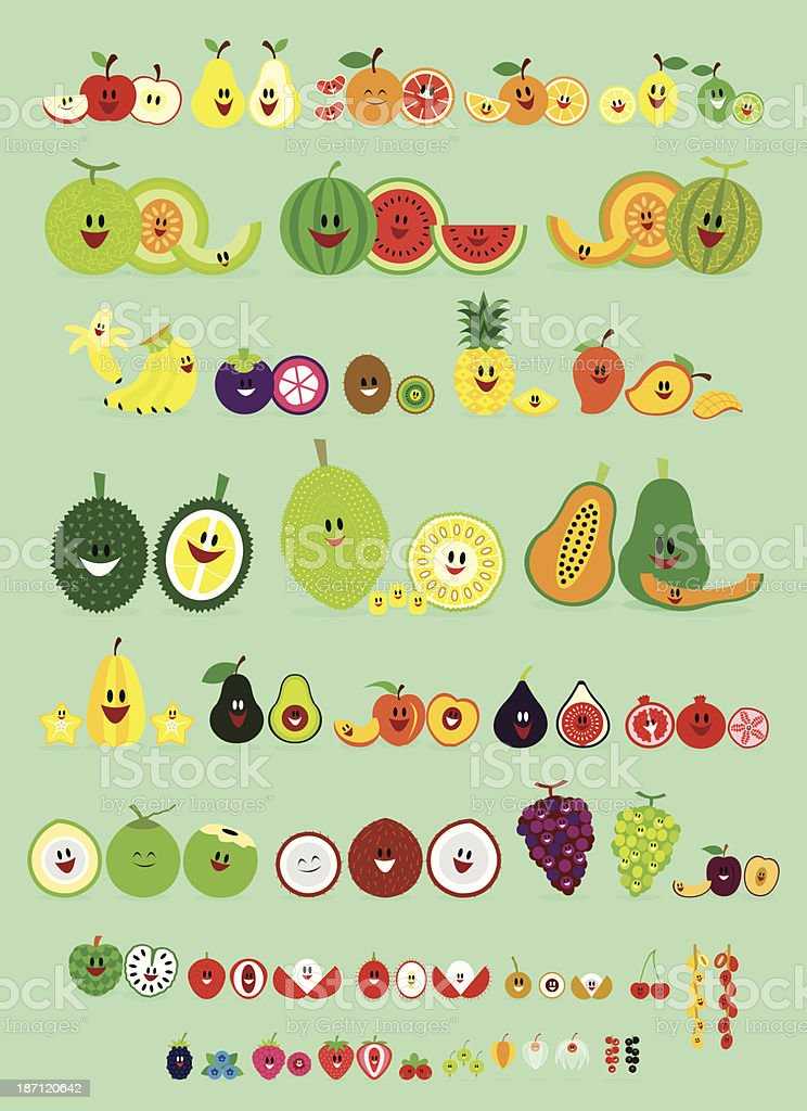 Smile Fruits royalty-free stock vector art