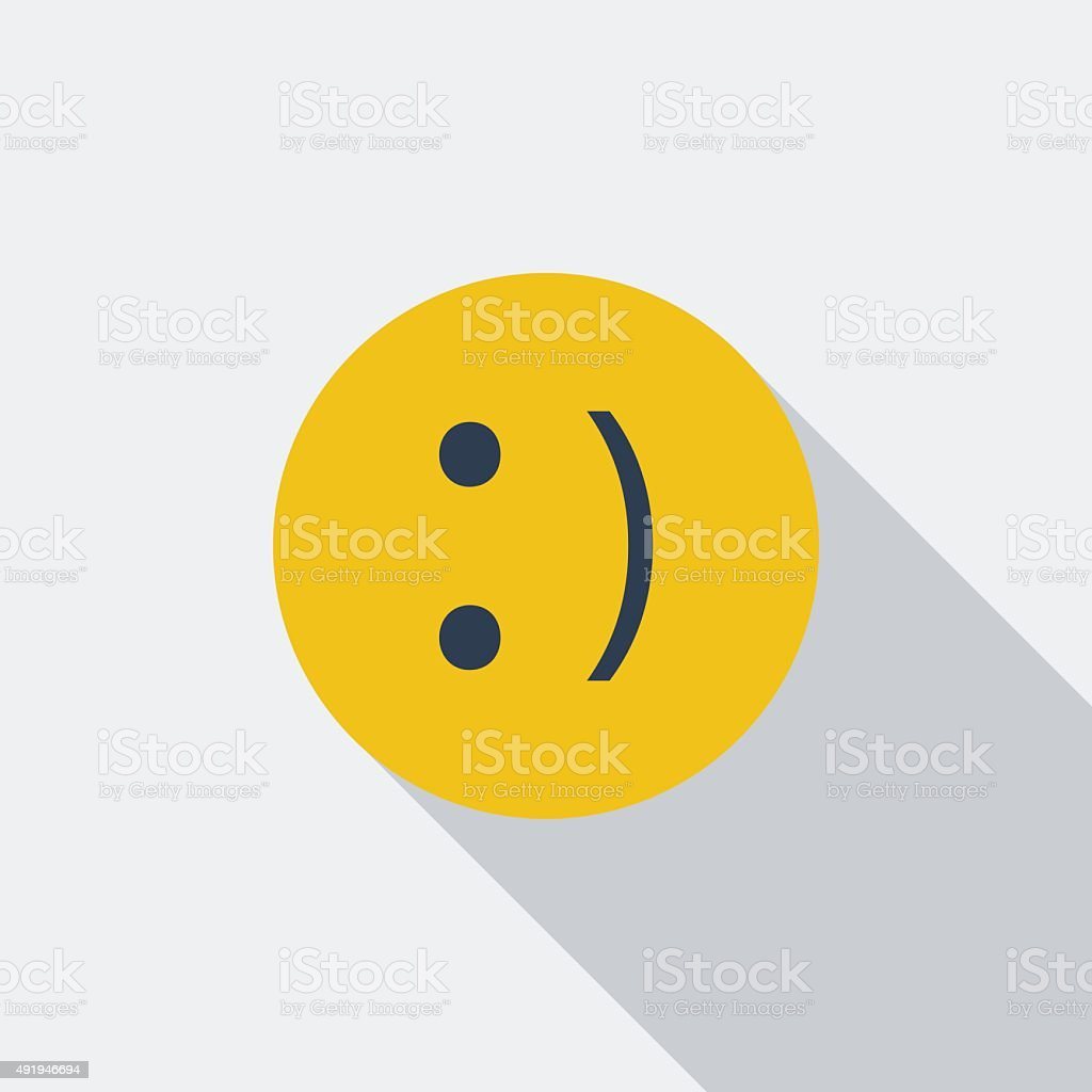 Smile icon. vector art illustration