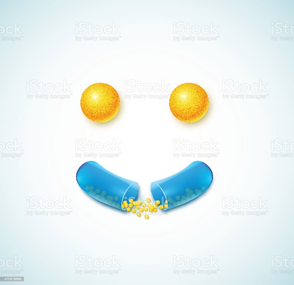 Smile of pills royalty-free stock vector art