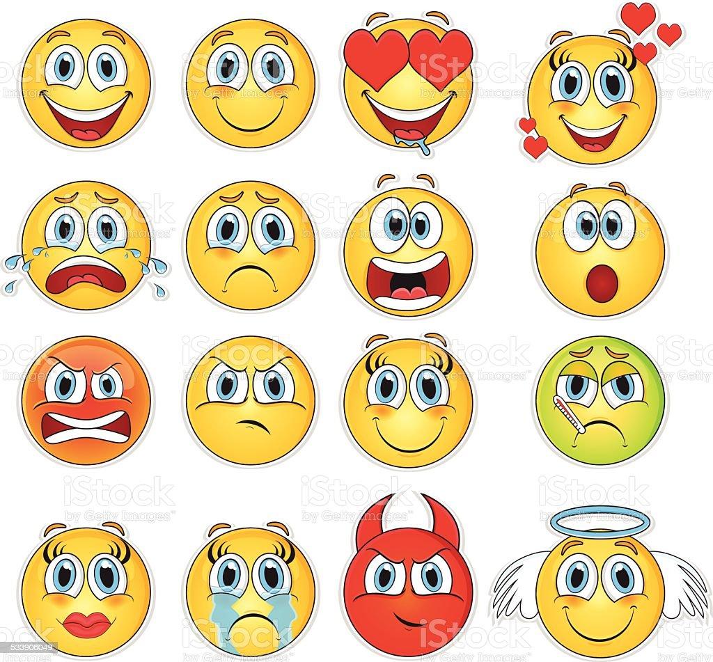smile vector art illustration