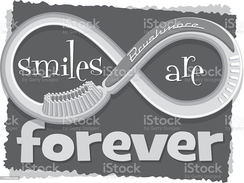 Smiles Forever Heading vector art illustration