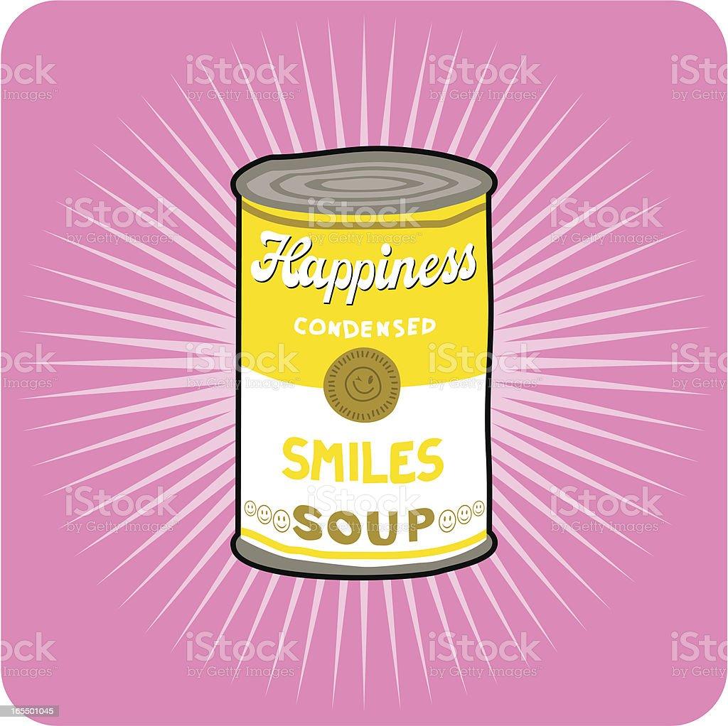 Smiles soup vector art illustration