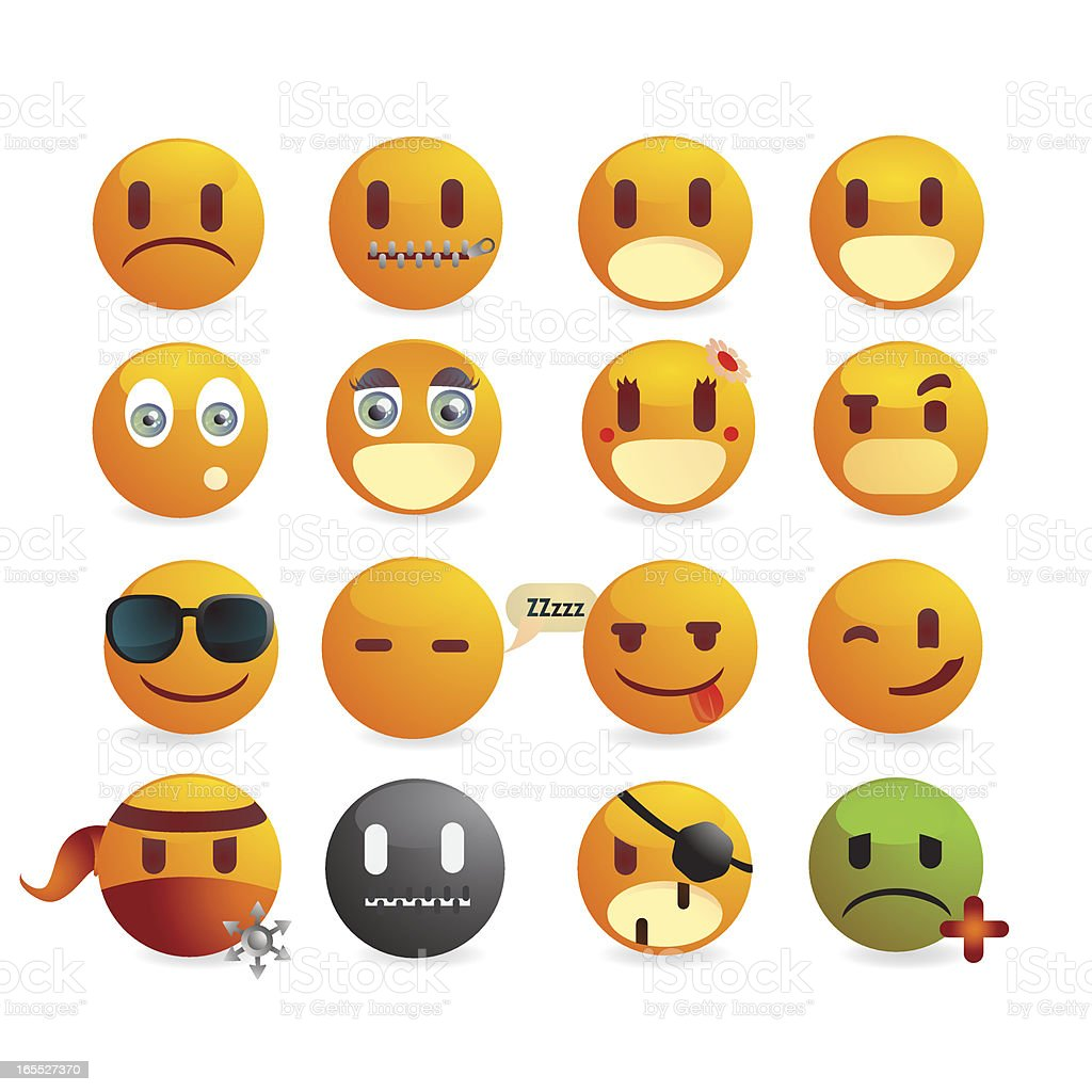 Smiley Emoticons Faces royalty-free stock vector art