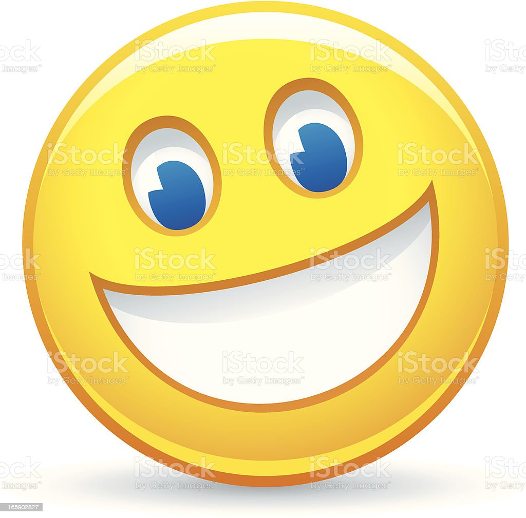 Smiley face vector art illustration
