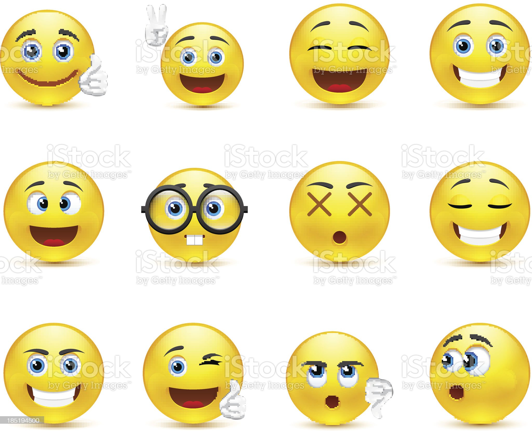 smiley faces images expressing different emotions royalty-free stock vector art
