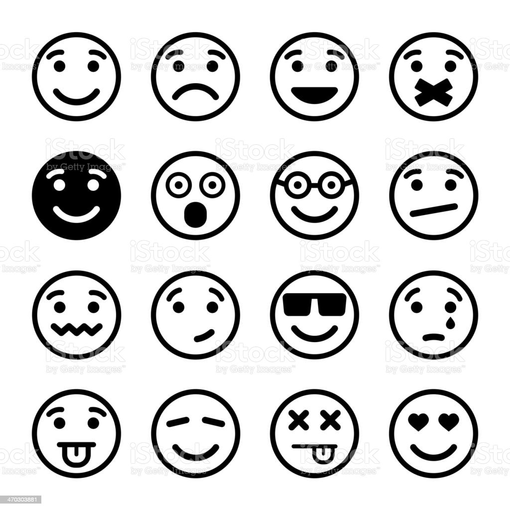 Smiley faces ns set royalty-free stock vector art
